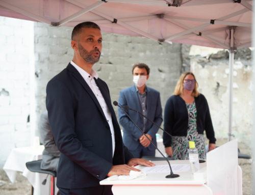 Discours du Président de l'Association EL FETH à l'occasion de la pose de la 1ère pierre de la Nouvelle Mosquée de Gerland